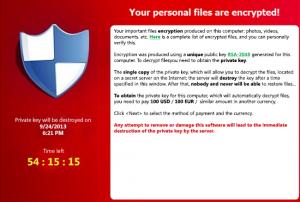 Encrypted files warning