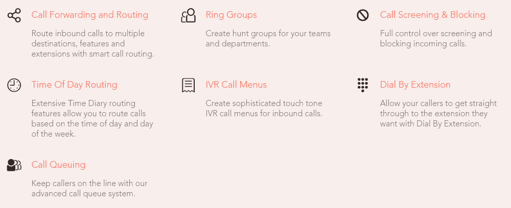 telephone service more functions